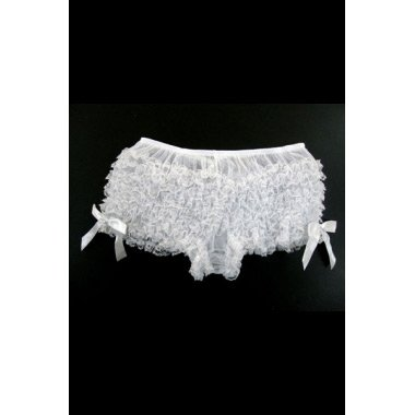 White Hot Ruffle Short Panty