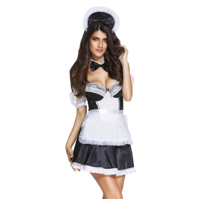 6pcs Sexy Head Maid Costume