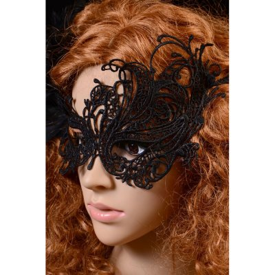 Halloween Masquerade Party Gothic Black Lace Mask