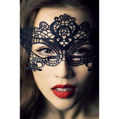 Halloween Masquerade Party Black Lace Mask