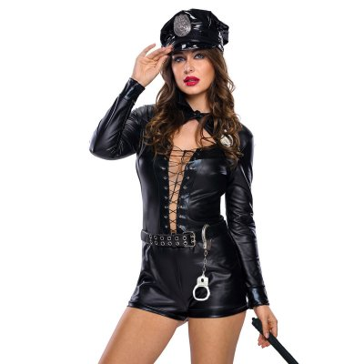 Stylish 4pcs Female Cop Costume