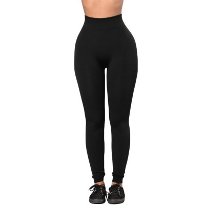 Solid Black High Waist Sports Leggings