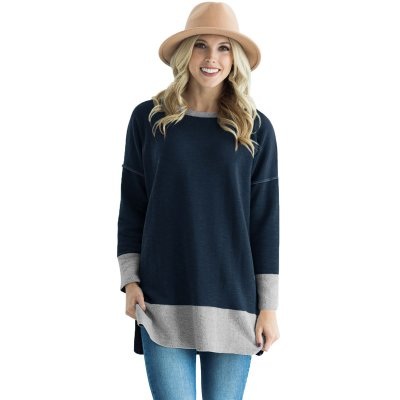 Blue Two Tone French Terry Sweatshirt