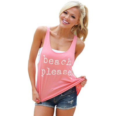 Pink Beach Please Tank Top