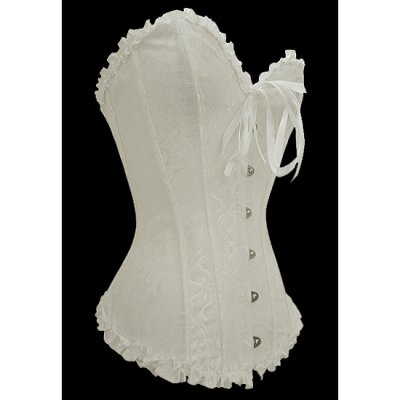 Plus White Overbust Pattern Corset
